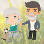 Woman in wheelchair with male caregiver | the DAWN Method