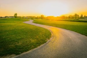 dawn with bike path winding through open grass   the DAWN Method